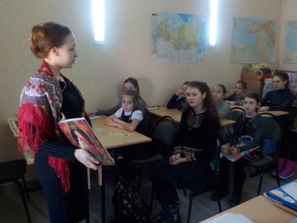 В воскресной школе нашего  храма прошло занятие посвященное Дню православной книги.